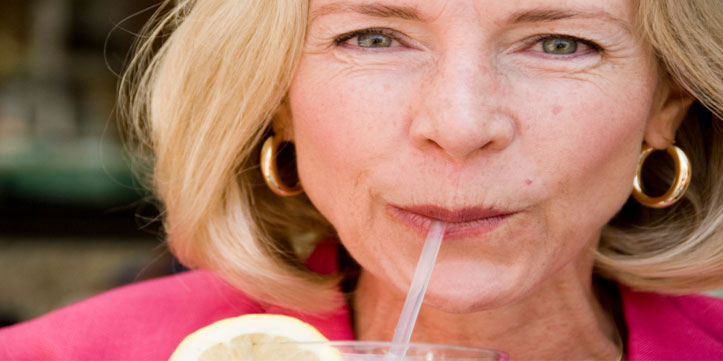 Sipping-Wrinkles-Face